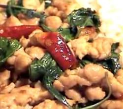 Thai Stir Fried Pork with Sweet Basil