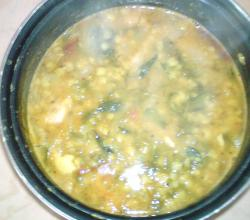Dal with dill Leaves
