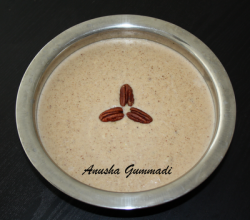 Walnut and rice pudding