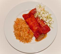 Chicken Enchiladas and Mexican Rice from Erica's Cocina ;O)
