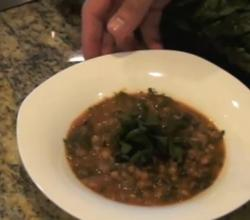 Lentil Soup with Ruby Swiss Chard and Lemon