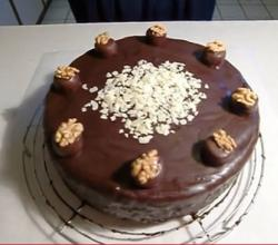 Almond And Chocolate Birthday Cake