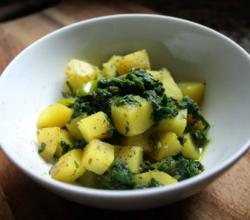 Indian Spiced Spinach and Potato Palak Aloo