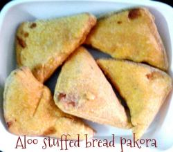Aloo Stuffed Bread Pakora