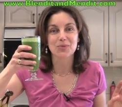 Vegan Anti Aging Speaches Green Smoothie