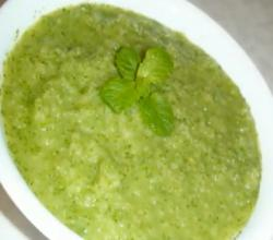 Green chutney - Apple and Cilantro Chutney