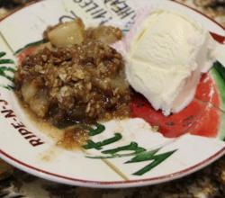 Dessert - Apple Crisp - Best home made apple crisp