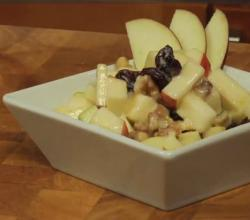 Apple, Dried Cherry and Walnut Salad with Yogurt and Honey