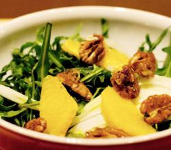 Arugula, Orange, and Fennel Salad with Sweet Creole Spiced Pecans