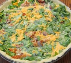 Easy Bacon and Spinach Quiche
