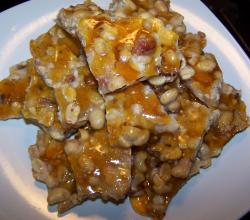 Peanut Brittle with Bacon