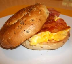 Bacon Veggie Bagel