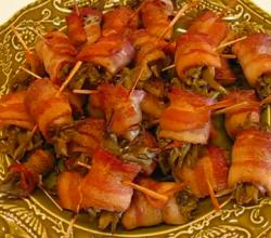 Bacon Wrap with Green Bean Bundle