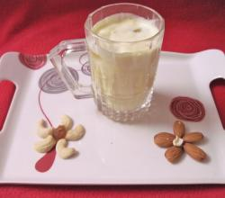 Badam Butterscotch Milkshake-Desi cooler