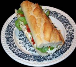 High Protein Salmon Baguette Sandwich With Lemon Mayonnaise