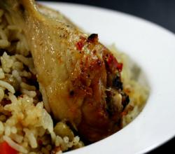 How to Bake Chicken with Rice