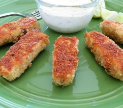 Baked Parmesan Crusted Fish Sticks