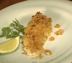 Baked Snapper With Lime And Ginger Crumb