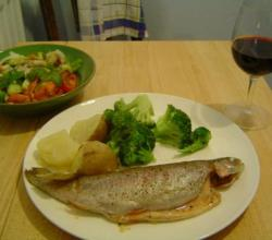 Baked Trout With Apple Stuffing