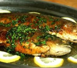 Baked Trout and Bacon