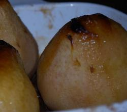 Baked Whole Pears with Raisin Nut Filling