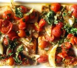 Baked Fish and Tomatoes