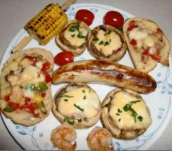 BBQ Stuffed Fresh Mushrooms