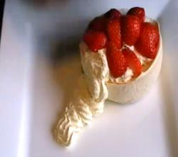 Strawberry Pavlova With Cream