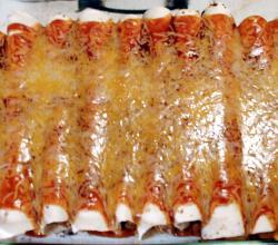 Bean and Raisin Enchiladas