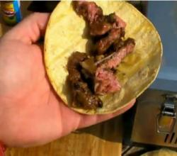 Beef Fajitas on the Solaire Anywhere Portable Stainless Steel Infrared Grill Model # SOL-IR17M