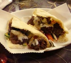 Barbecued Beef Pita Sandwiches