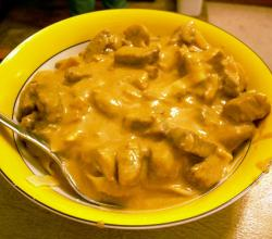 Beef Stroganoff with Mushrooms