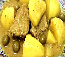 Moroccan Beef Tajine with Potatoes