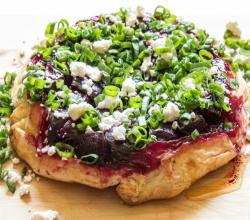 Beetroot and Feta Cheese Tarte Tatin