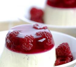 Italian Panna Cotta With Jellied Berries