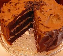 Betty's Best Chocolate Cake with Double Frosting