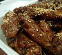 Black Pepper and Garlic Chicken Wings