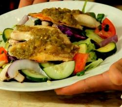 Pan Seared Black Truffle Tilapia Salad