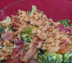 Healthy Broccoli and Bacon Salad