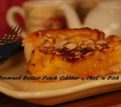 Browned Butter Peach Cobbler