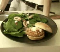 Chicken Burger with Brushetta