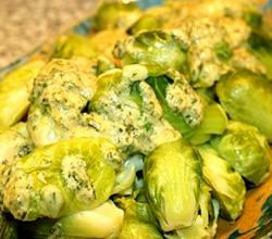 Brussel Sprouts in Cheese Sauce