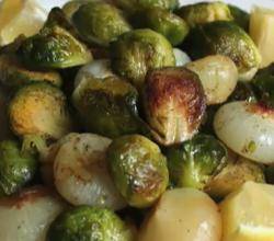 Roasted Brussels Sprouts And Cipollini Onions