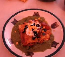 Burrito Style Chicken Enchiladas With Cilantro Sauce