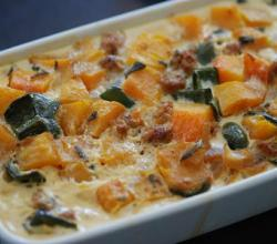Butternut Squash and Pecorino Quiche