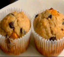 Butterscotch Chocolate Chip Banana Muffins