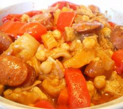 Tripe and Sausage with Chickpeas