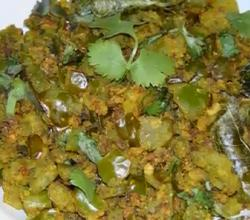 Indian Capsicum with Besan Sabzi
