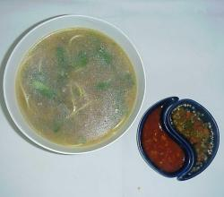 Chicken Clear Soup With Coriander And Lemon
