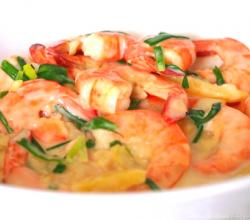 Filipino Style Cheesy Garlic Shrimp
